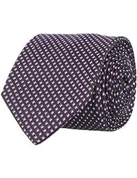 OTTO KERN Schmale Krawatte Seide Seidenkrawatte Clubkrawatte Schwarz Kästchen 6,5 cm