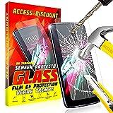 LiveMobile Access-Discount Film En VERRE trempe vitre durci Solide pour Ecran sur mesure adapté & dédié Huawei Y6 2018 (non incurvé)
