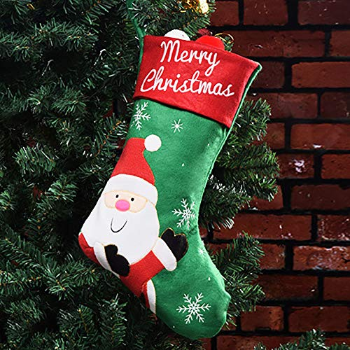 Ghf calze natalizie babbo natale alce pupazzo di neve ciondolo borsa regalo di natale regalo borsa caramelle,green