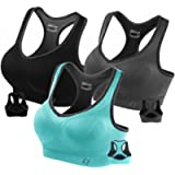 FITTIN Racerback Sports Bra for Women- Padded Seamless Activewear Bras for Yoga Gym Workout Fitness