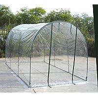 VERDELOOK Serra a tunnel con copertura in PVC, per orto, 200 x 300 x 180 cm (Lu x P x A)