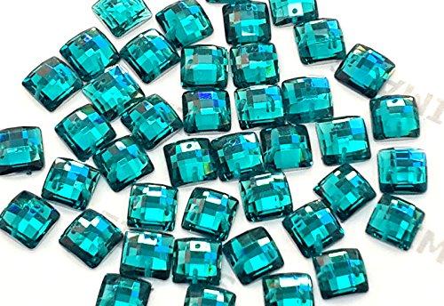 Quadratische Form folienbeschichtete® Sew oder Klebstoff auf Kunstharz Kristalle, flache Rückseite Gems für Kostüm