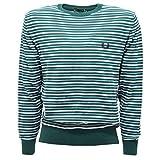 Fred Perry 1896T Maglione Bimbo Cotone Verde/Bianco/Azzurro Sweater Kid [12 years]