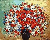 Malen nach Zahlen Neuerscheinungen Neuheiten - DIY Ölgemälde durch Zahlen, Malen nach Zahlen Kits - Schöne Blume 16 * 20 Zoll - digitales Ölgemälde Segeltuch-Wand-Kunst-Grafik Landschaftsmalerei für Heim Wohnzimmer Büro Christmas Decor Decorations-Geschenke - DIY Farbe durch Zahl DIY Segeltuch-Kit für Erweiterte Erwachsene Kinder Senioren Junior - neue Ankunfts - No. D95