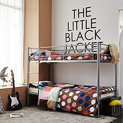 3ft Single Metal Frame Children Space saving Bunk Bed for Kids Twin Sleeper Option for Foam Mattress (Silver bed frame only -)