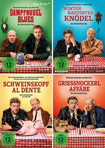 Eberhofer - 4 DVD Set (Dampfnudelblues + Winterkartoffelknödel + Schweinskopf al dente + Grießnockerlaffäre) im Set - Deutsche Originalware [4 DVDs]