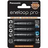 Panasonic eneloop pro, Ready-to-Use Ni-MH Akku, AA Mignon, 4er Pack, min. 2500 mAh, 500 Ladezyklen, mit extrastarker Leistung und geringer Selbstentladung, wiederaufladbare Akku Batterie, Akkubatterie