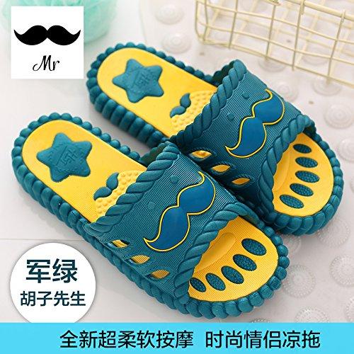 DogHaccd pantofole,Cool pantofole uomini rimanere a casa per vasca da bagno anti-slittamento carino coppia pavimento di plastica bagno pantofole femmina estivo Il verde3