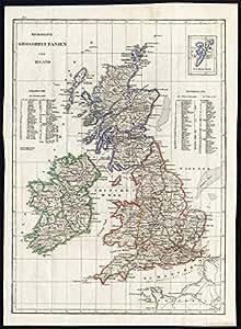 Antique map-great britain-ireland-england-shetland islands-scotland-1800