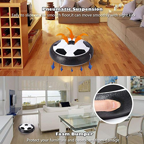 hover ball air power fu ball indoor fu ball mit led beleuchtung fu ball spie ebay. Black Bedroom Furniture Sets. Home Design Ideas