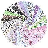 50pcs Tissus Coton Square Fabric Bundle Patchwork Vêtements Couture Sewing Quilting Artisanat Multicolore 10 x 10cm