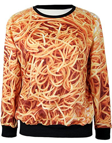 THENICE Femme manches longues Sweat-shirts Noodles