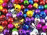 Aikesi 100 pièces grelot Mélanger la couleur Cloches de Noël Clochette Mini Bell Perles en vrac Charms