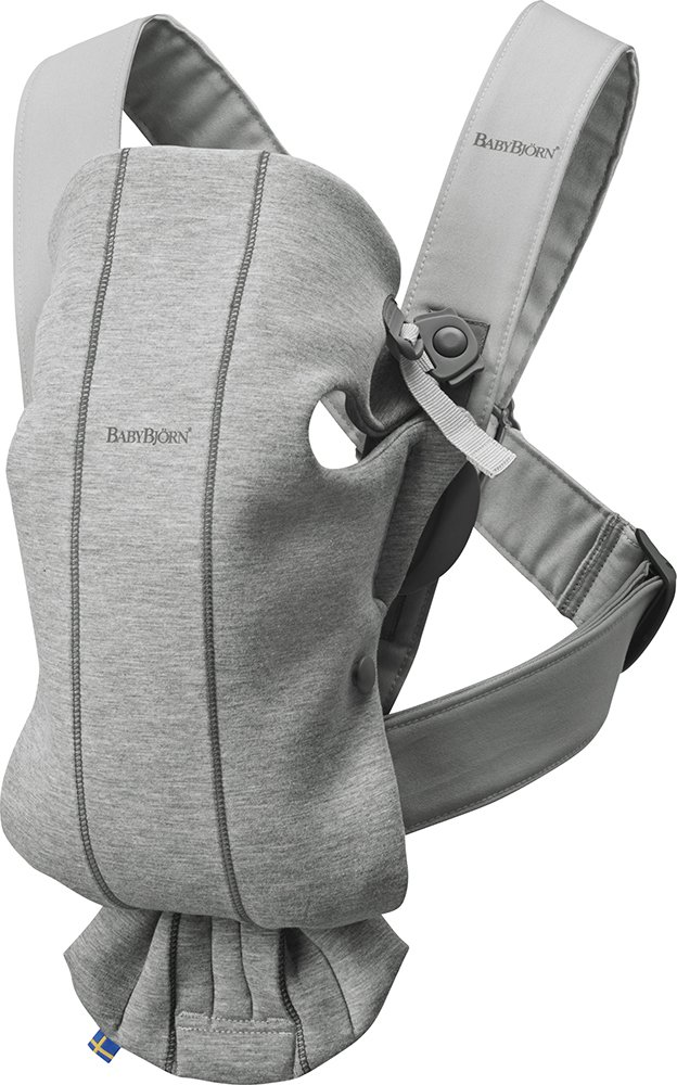 BABYBJÖRN Baby Carrier Mini, 3D Jersey, Light Grey Baby Bjorn Perfect first baby carrier for a newborn Small and easy to use 3D Jersey - Our newest and softest material is as snug as your comfiest T-shirt 1