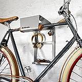 Fahrrad Wandhalterung BikeDock Urban Grey Alu - Der Fahrradwandhalter für Ihr Zuhause - Sehr flexibel, hochwertig und platzsparend