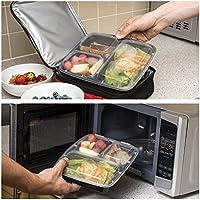 Perfect Placed [7pezzi pasto preparazione alimentare contenitore 3scomparti in plastica
