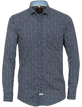 CASAMODA Herren Freizeithemd aus Kaschmir und Seide 100% Baumwolle - Casual Fit