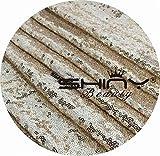 Tessuto con paillettes da 2m, bidirezionale, materiale elastico a rete con brillantini, per confezionare decorazioni natalizie/tovaglie di pailletes fai da te, oro chiaro, 2meter