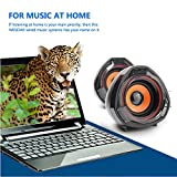 WESDAR-Computer-Speakers-USB-Powered-35mm-Audio-Input-Stereo-Computer-Set-for-Desktop-Laptop-Notebook-Pack-of-2-Black-and-Orange-BkOR-160