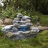 Directachat56 Fontaine de Jardin illuminée avec 4 Variantes de lumière