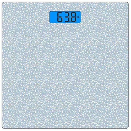 Digitale Präzisionswaage für das Körpergewicht Platz Elfenbein und Blau Ultra dünne ausgeglichenes Glas-Badezimmerwaage-genaue Gewichts-Maße,Sternchen auf Silhouetten Hintergrund Kindergarten Doodle I