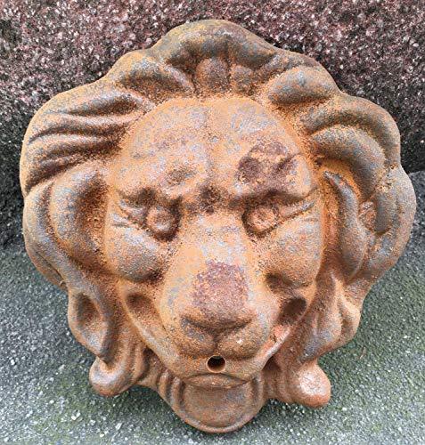 aubaho Löwenkopf Löwe Dekoration Eisen Wandbrunnen Wasserspeier Skulptur Figur e