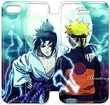 Funda iPhone 6 6S Plus 5.5 Inch Funda de cuero [Buen regalo bonito regalo] [Naruto Shippuden Background Air Djil] [Card/Cash Slots] Protectora caja del teléfono para iPhone 6 6S Plus 5.5 Inch Z0P3GD