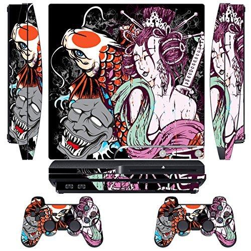 PS3 Pelli Giochi Playstation 3 Vinile Adesivi Console PS3 Sistema + Due Decalcomanie del Controller - Tsunami