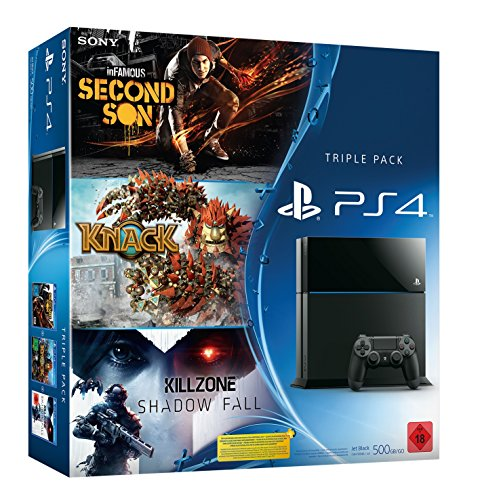 PlayStation 4 - Konsole inkl. Killzone: Shadow Fall, Knack und inFamous Second - Ps Bundle Vita Sony