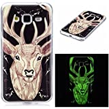 Coque Samsung Galaxy J3 2016, BONROY® Samsung Galaxy J3 (2016) 5,0 pouces Housse Luminous Effect Noctilucent Green Glow in the Dark Ultra Mince Souple Gel TPU Bumper Poussiere Resistance Anti-Scratch Coque Housse Pour Samsung Galaxy J3 (2016) 5,0 pouces - Elk