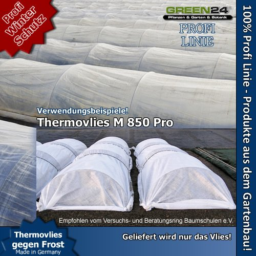 Thermovlies M850 Pro Garten-Vlies zur Pflanzenabdeckung sehr stabil und nähbar 85g/qm - Profi...