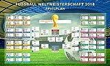KeySmart Fußball WM Poster Spielplan 2018