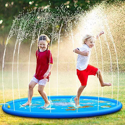 """OYE HOYE Splash Pad, Aufgerüstet 68"""" Splash Matte Aufblasbares Outdoor Wasserspielzeug Großer Sommerspaß Sprinkler Pad für Aufblasbares Wasserspielzeug für Kinder ab 18 Monaten"""
