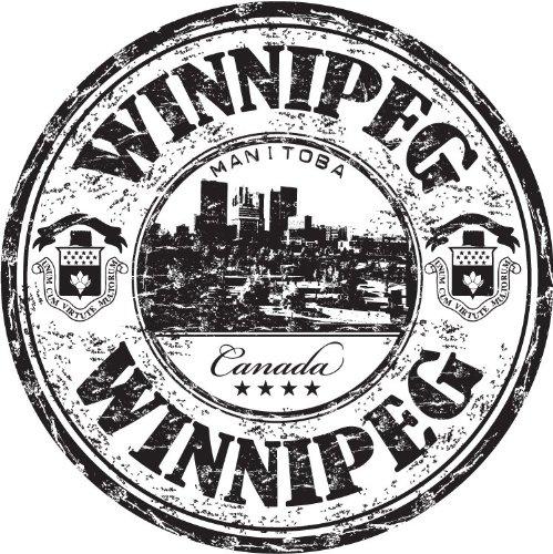 Winnipeg city Manitoba Canada Travel Grunge Stamp Hochwertigen Auto-Autoaufkleber 12 x 12 cm