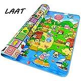 LAAT - Alfombra de juegos para bebé, espuma suave, impermeable, diseño del abecedario