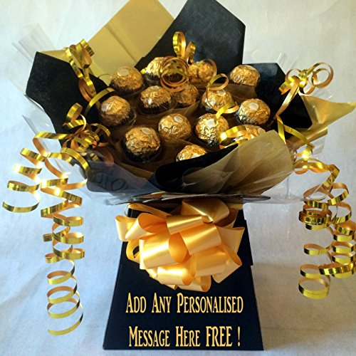 mini-black-personalised-ferrero-rocher-sweet-chocolate-bouquet-hamper