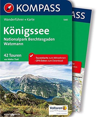 Königssee, Nationalpark Berchtesgaden, Watzmann: Wanderführer mit Extra-Tourenkarte 1:35.000, 42 Touren, GPX-Daten zum Download. (KOMPASS-Wanderführer, Band 5441)