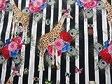 Qualitativ hochwertiger Jersey Stoff mit Giraffen auf