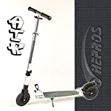 Hepros Vollgefedert XXL Air Fully Scooter Silver - 150mm Lufträder 6.9 bar - Carbon