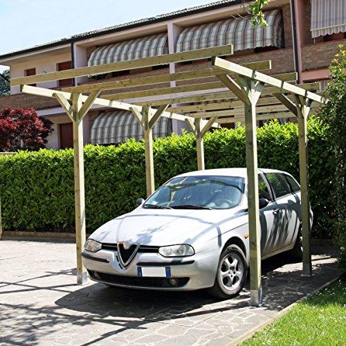 Carport aus Holz 300x 500cm, Modell Lupo
