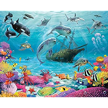 Walltastic Sea Adventure Wallpaper Mural, Multi Colour Part 53