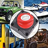 ZMunited Batterie Trennschalter 12 V-24 V Akku Power Cut Off Schalter Akku trennen Master Schalter Hauptschalter für Marine Boot Caravan Kfz Fahrzeuge Motorrad Yacht Bus