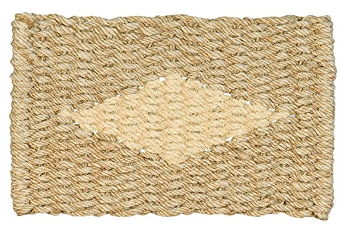 Jute & co Fußmatte aus juteseil und Verzierung aus Kokosfaser, 45x 75cm, beige