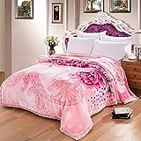 Couverture rose motif floral Chambre lit recouvert de couverture quatre saisons...