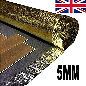 Royale Sonic Gold 5mm Comfort Underlay for Laminate or Wood