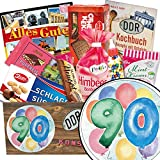 90. Geburtstag Geschenk - Süße DDR Waren mit Geschenkbox | Geschenk Set