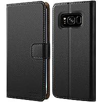 HOOMIL Galaxy S8 Hülle, Handyhülle Samsung Galaxy S8 Tasche Leder Flip Case Brieftasche Handy Schutzhülle für Samsung S8 Cover - Schwarz (H3059)