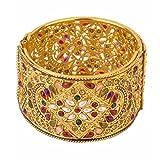 Zeneme Antique Style Gold Plated Kada/ B...