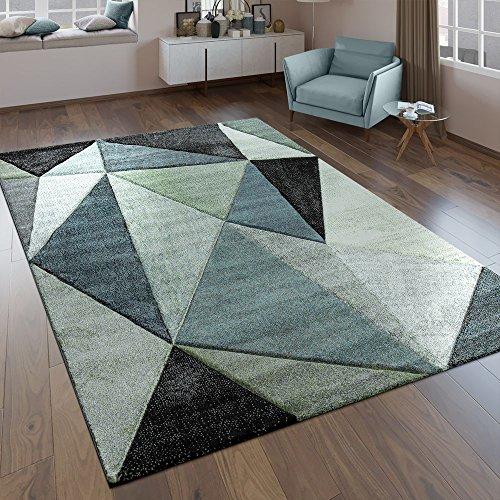 Paco Home Alfombra Diseño Efecto En Relieve Triángulos