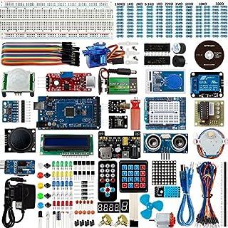 Set / Kit für Arduino - Smraza für Arduino Mega2560 Projekt Ultimate Starter Kit mit Tutorial, MEGA2560 R3 Mikrocontroller und viel Zubehör Kompatibel für Arduino Mega2560 UNO R3